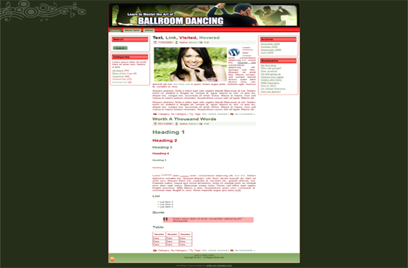 Ballroom Dancing HTML Template Edition 4