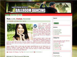 Ballroom Dancing WP Theme Edition 1