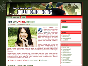 Ballroom Dancing WP Theme Edition 2