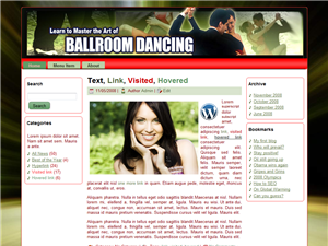 Ballroom Dancing WP Theme Edition 3