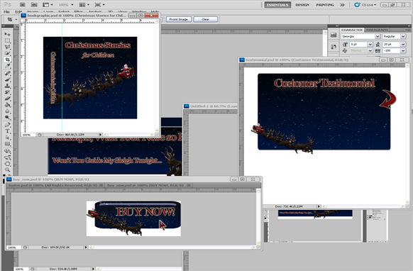 Christmas PSD Minisite Graphics Edition 1