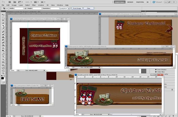 Christmas PSD Minisite Graphics Edition 2