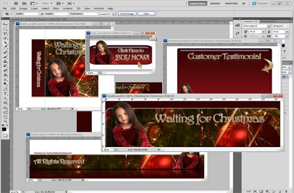 Christmas PSD Minisite Graphics Edition 3