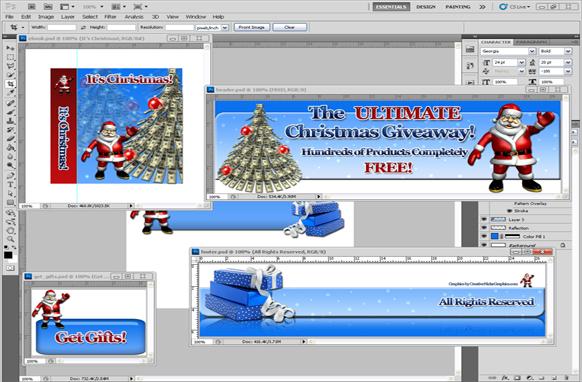 Christmas PSD Minisite Graphics Edition 7