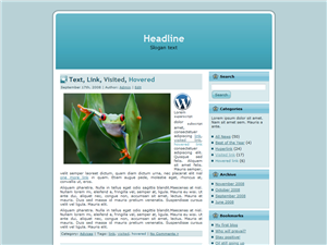 Blue Frog WP Theme