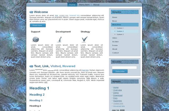 Blue Glass HTML Template