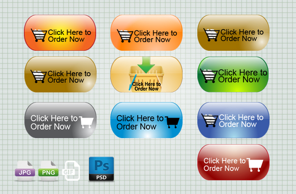 Click Here to Order Now PSD PNG GIF JPG Badges