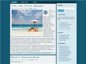 Blue Holiday WP Theme
