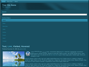 Dark Blue Mobile WP Website Template