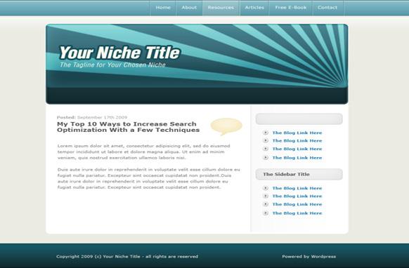 Dark Blue WP Salesletter