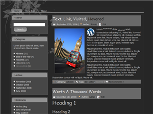 Dark Pages WP Theme