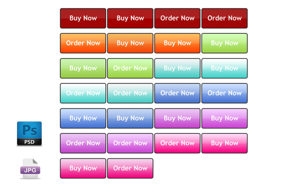 Newtown Style Color JPG PSD Buttons