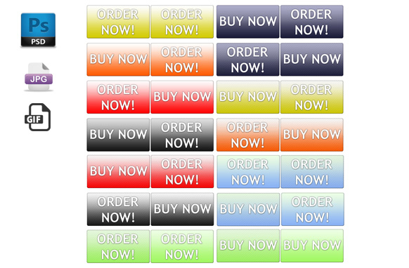 Order Now Buy Now PSD JPG GIF Buttons