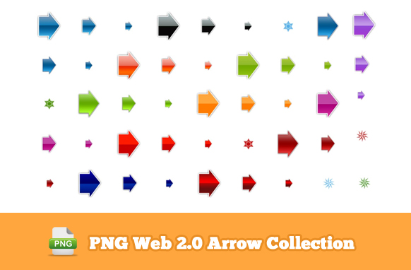 PNG Web 2.0 Arrow Collection