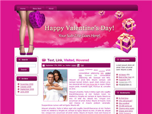 Hearts-N-Boxes Blogger Theme