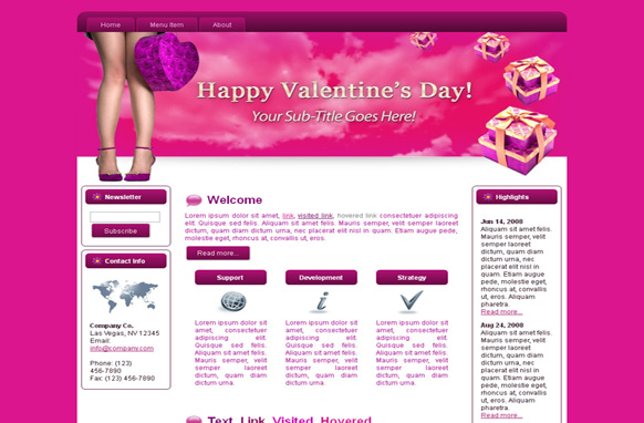 Hearts-N-Boxes HTML Template