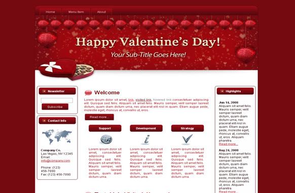 Hearts-N-Chocs HTML Template