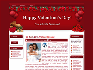 Hearts-N-Roses WP Theme