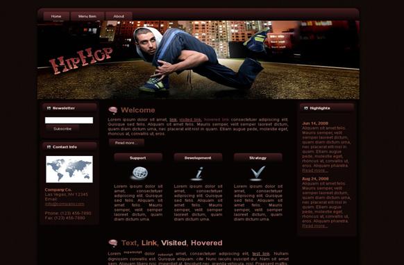 Hip Hop HTML Template
