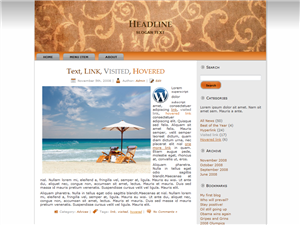 Holiday Overhead WP Theme