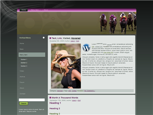 Horse Racing WP Theme Edition 1