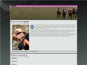 Horse Racing WP Theme Edition 2