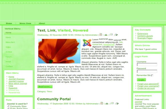 Lime Joomla Theme