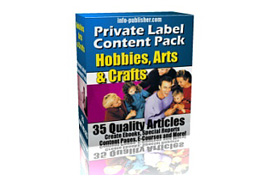 Private Label Content Pack Hobbies, Arts and Crafts
