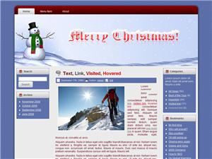 Merry Christmas Blogger Template Vol 2
