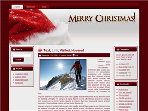 Merry Christmas Blogger Template Vol 3