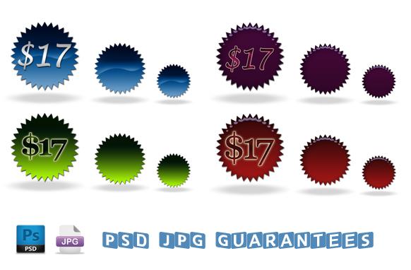 PSD JPG Price Tags Graphics
