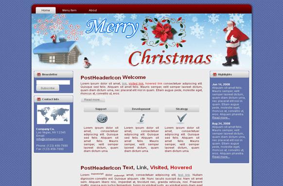 Merry Christmas HTML Template Edition 1