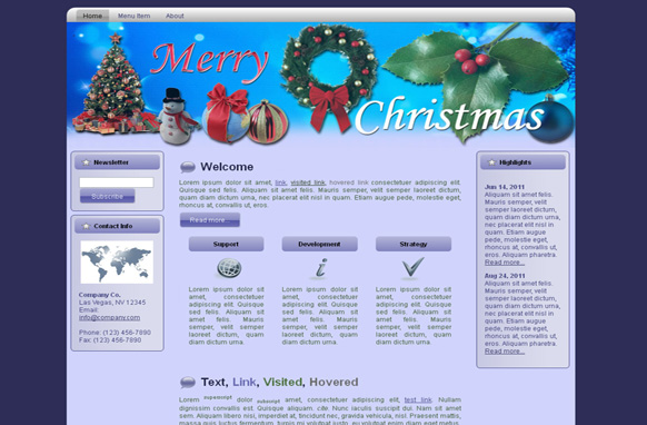 Merry Christmas HTML Template Edition 3