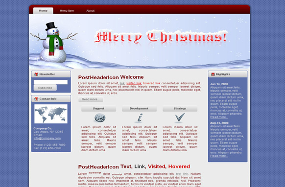 Merry Christmas HTML Template Vol 2