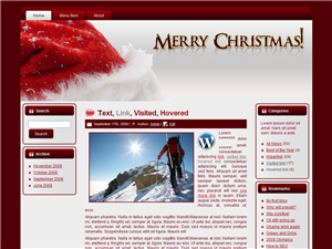 Merry Christmas WP Template Vol 3