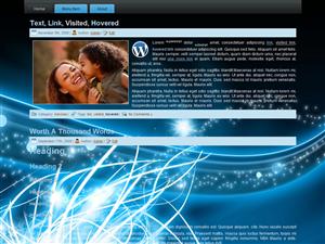 Premium Blue Swirl WP Theme Edition 3