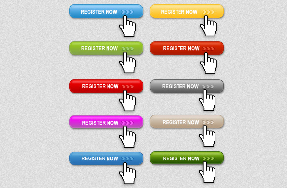 Register Now Buttons PSD