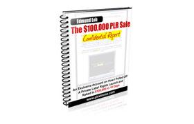 The $100K PLR Sale