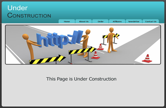 Under Construction HTML Template
