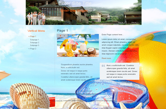 Vacation HTML Template