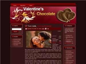 Valentine Chocolate Blogger Theme Edition 1