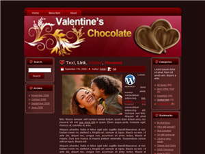 Valentine Chocolate WP Theme Edition 1
