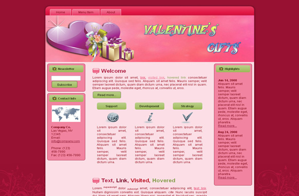 Valentine Gifts HTML Template