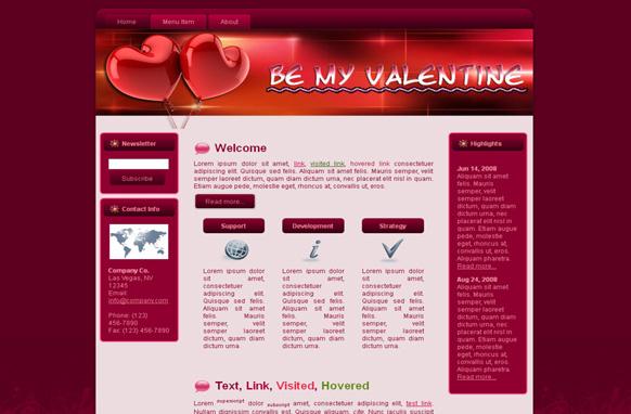 Valentine Heart Balloon HTML Template