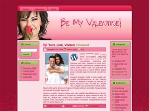 Valentine Rose WP Template