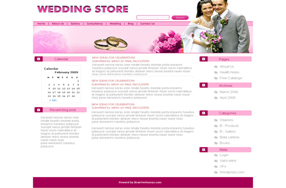 Wedding Store WP Theme
