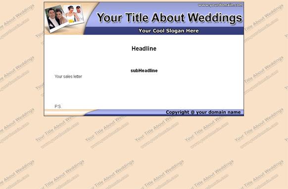 Weddings HTML & PSD Template Edition 1