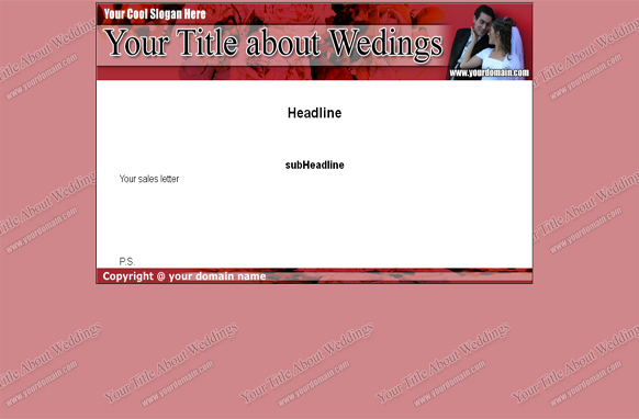 Weddings HTML & PSD Template Edition 3