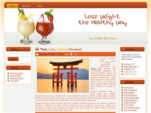 Weight Loss Blogger Theme