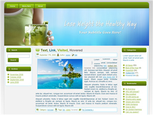 Weight Loss Diet Blogger Theme